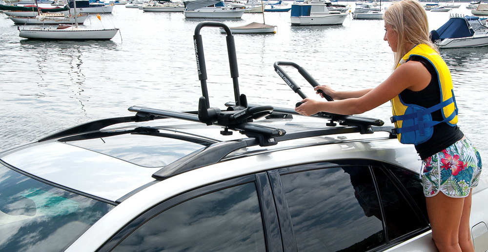 Car Topping And Strapping Down A Kayak Kayak Roof Racks